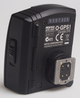 Pentax O-GPS1 nase with shoe mounting