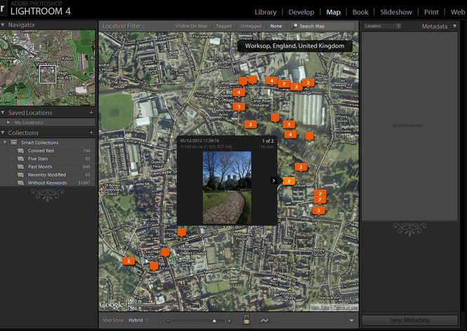 Pentax Gps Lightroom map feature