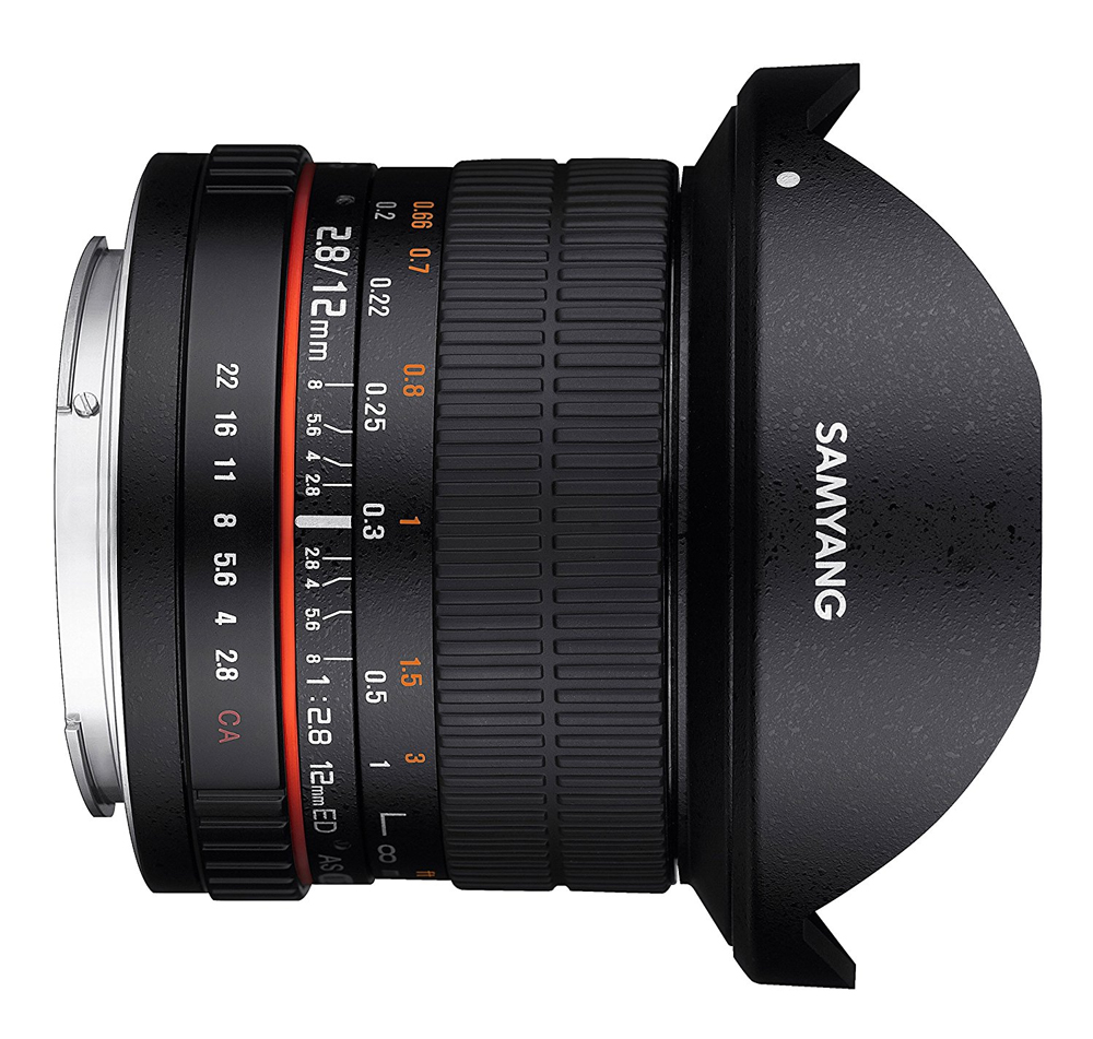 Samyang 12 MM F2.8 lens for PENTAX-K