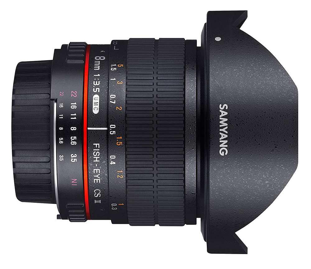 Samyang 8mm f/3.5 UMC Fish-eye CS II Lens